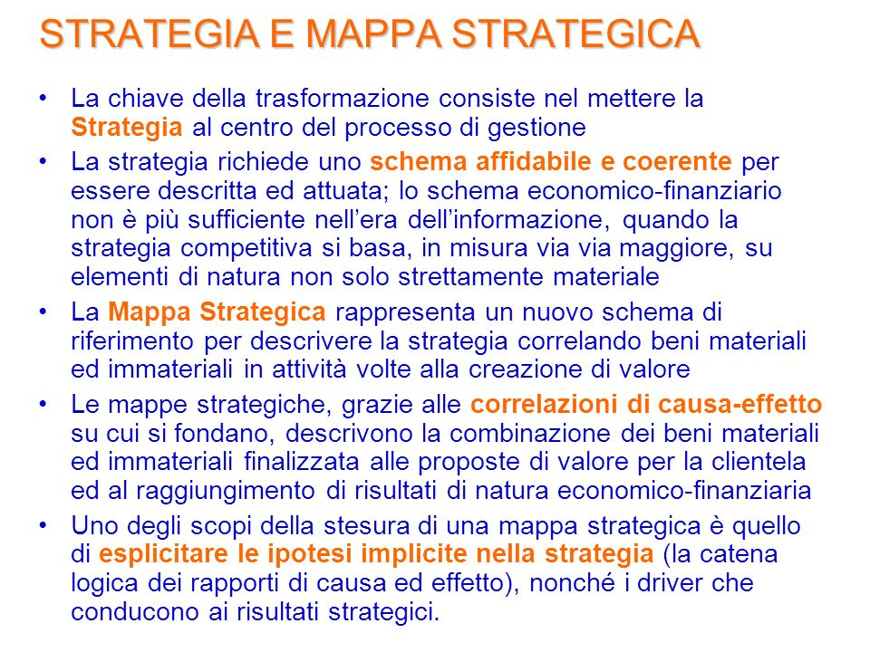 STRATEGIA E MAPPA STRATEGICA