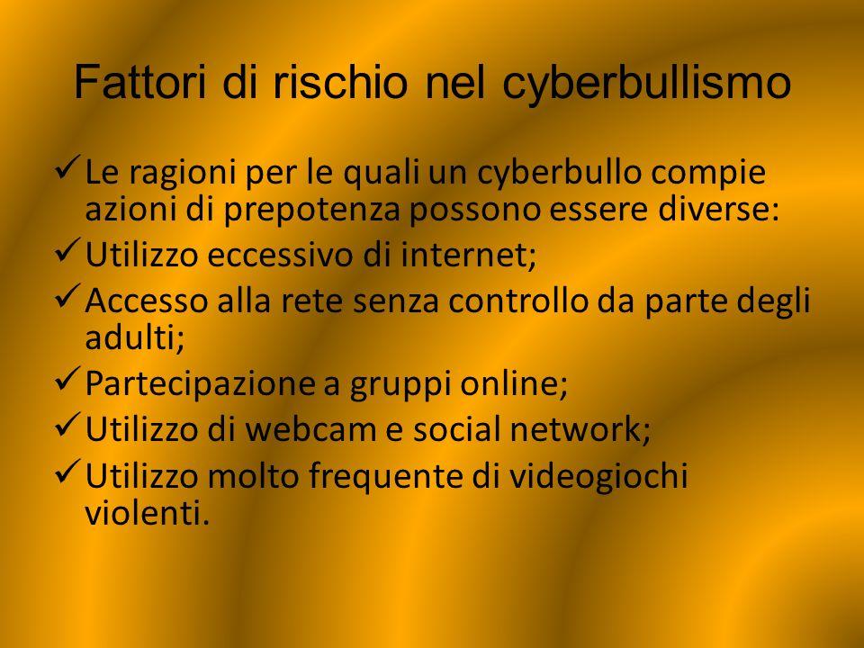 Fattori di rischio nel cyberbullismo