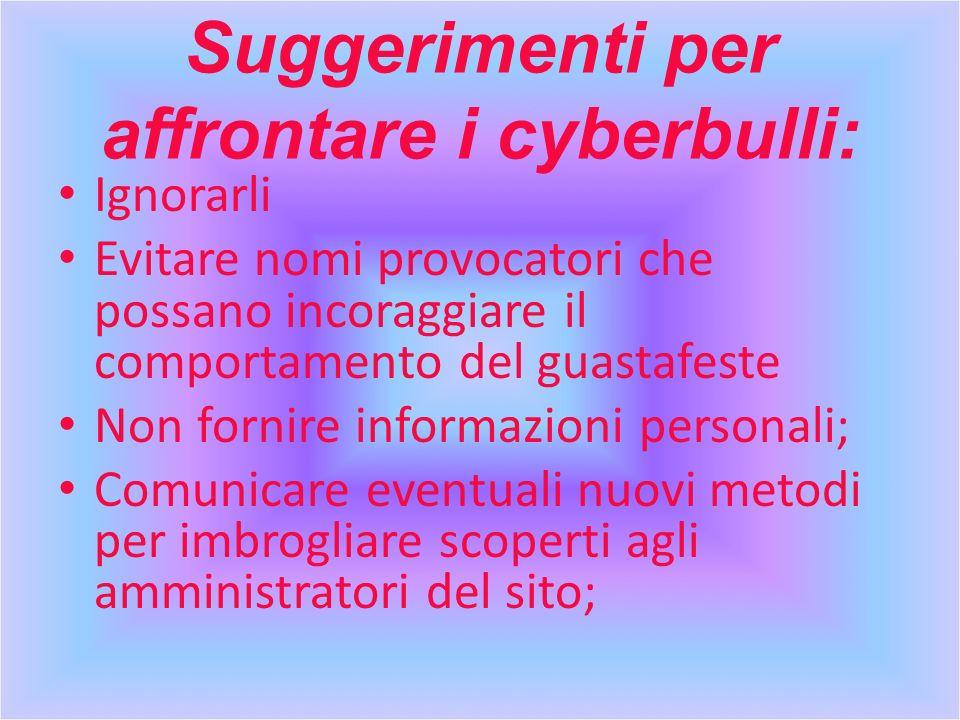 Suggerimenti per affrontare i cyberbulli: