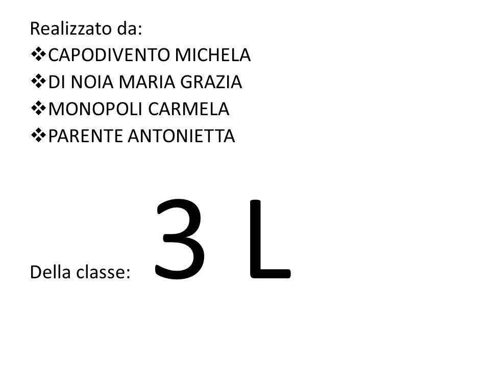 Realizzato da: CAPODIVENTO MICHELA. DI NOIA MARIA GRAZIA.