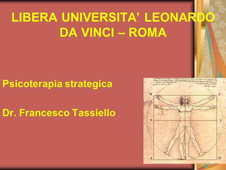 LIBERA UNIVERSITA' LEONARDO DA VINCI – ROMA