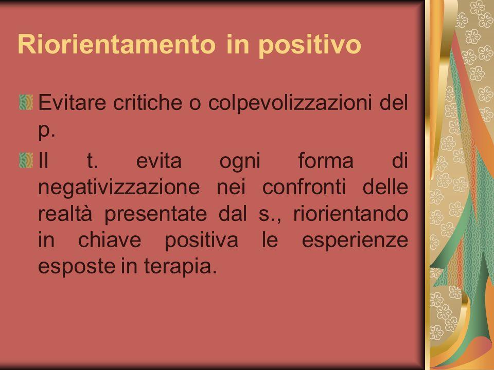 Riorientamento in positivo