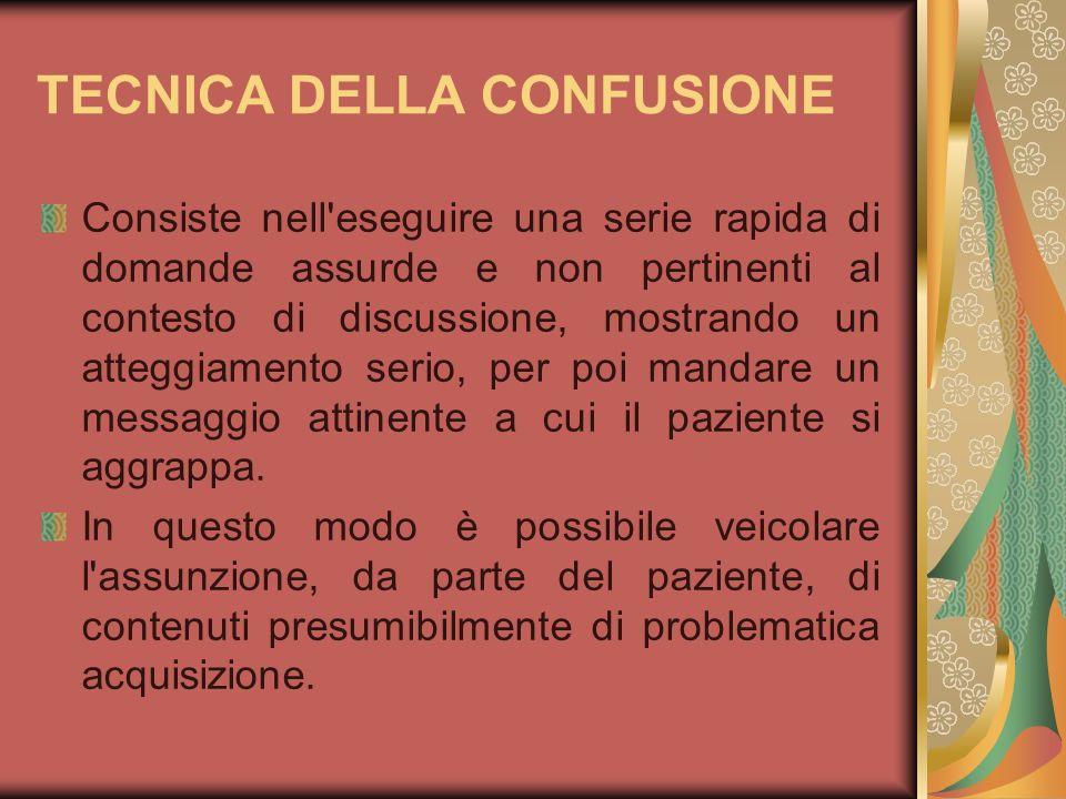 TECNICA DELLA CONFUSIONE
