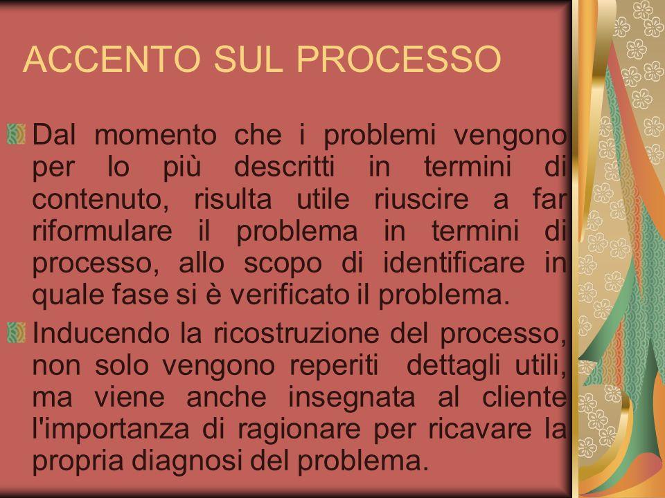 ACCENTO SUL PROCESSO
