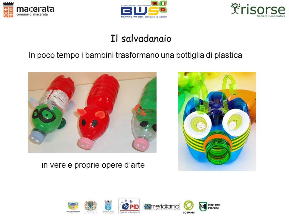 In poco tempo i bambini trasformano una bottiglia di plastica