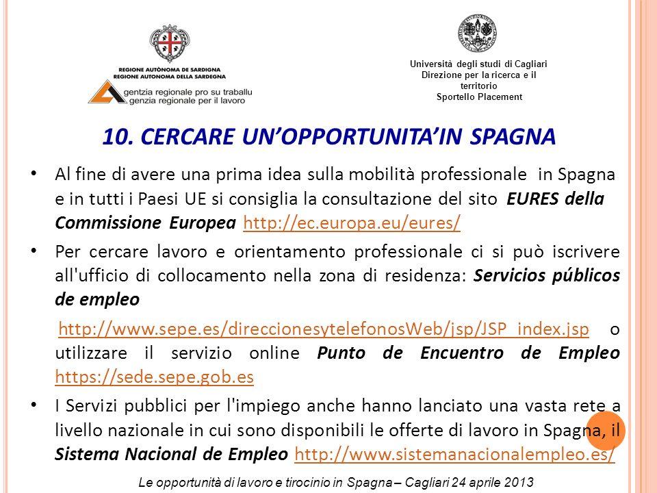 10. CERCARE UN'OPPORTUNITA'IN SPAGNA