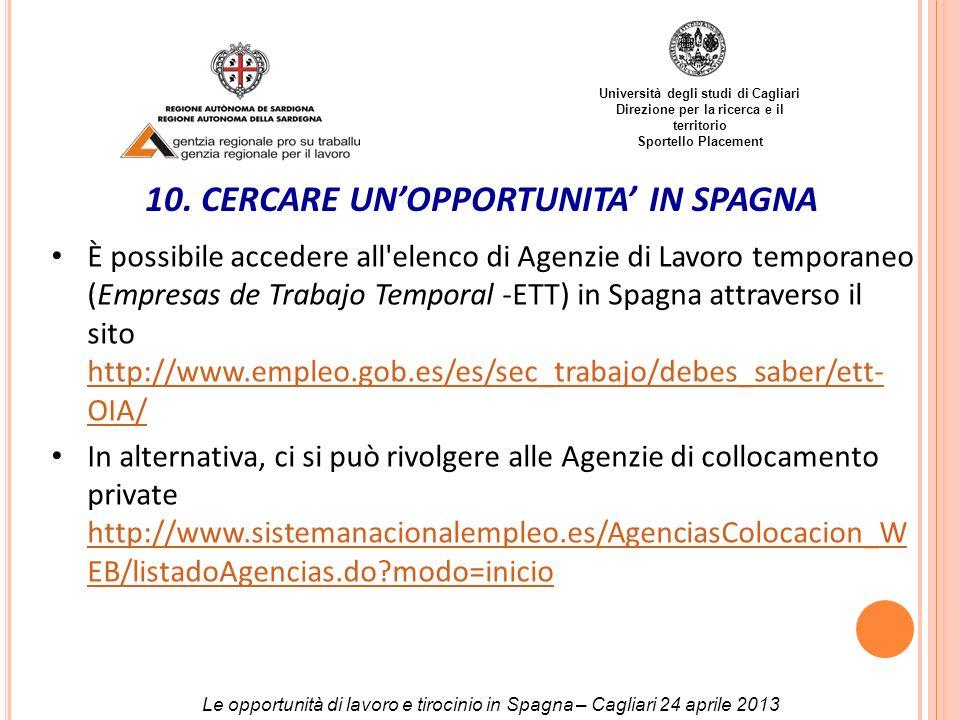 10. CERCARE UN'OPPORTUNITA' IN SPAGNA