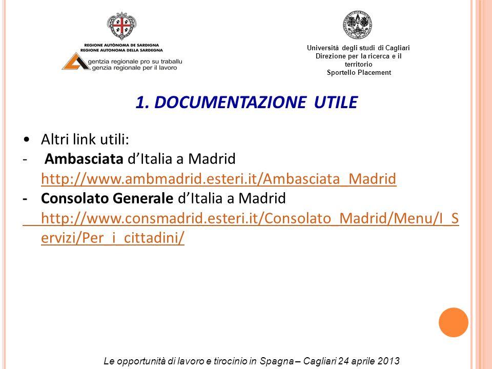 1. DOCUMENTAZIONE UTILE Altri link utili:
