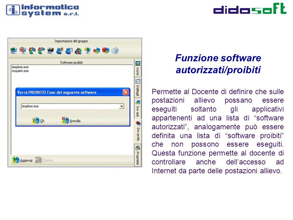 Funzione software autorizzati/proibiti