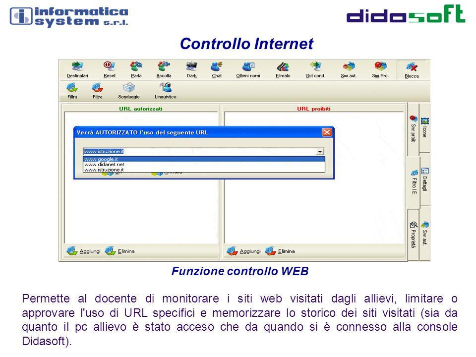 Funzione controllo WEB