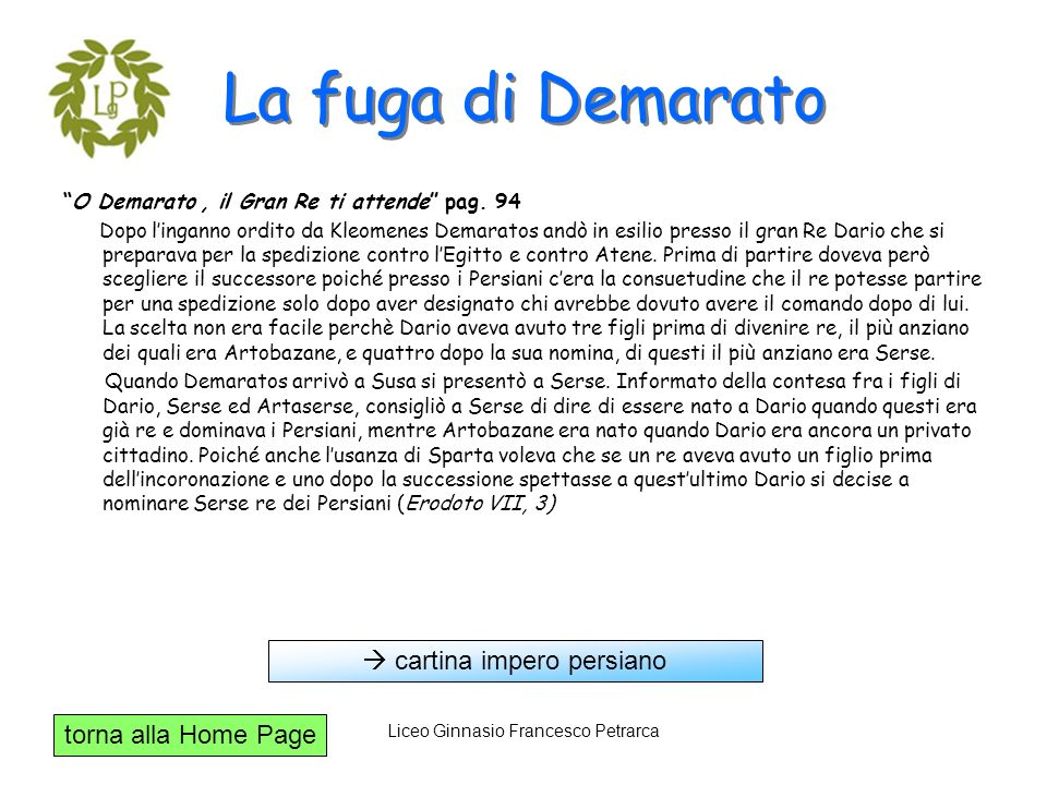 La fuga di Demarato  cartina impero persiano
