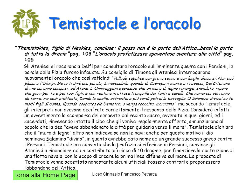 Temistocle e l'oracolo