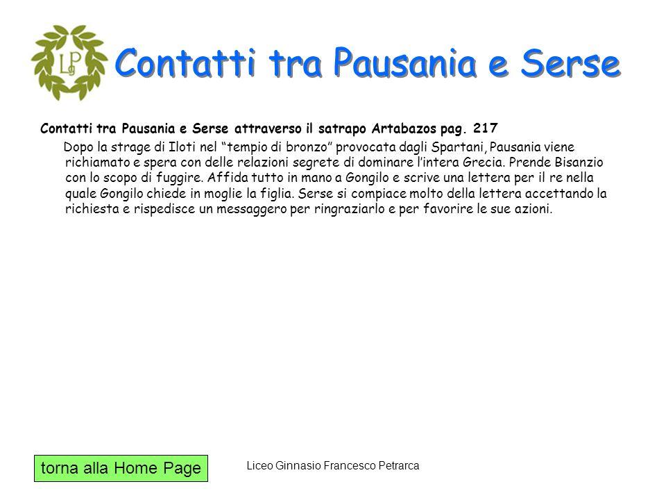 Contatti tra Pausania e Serse