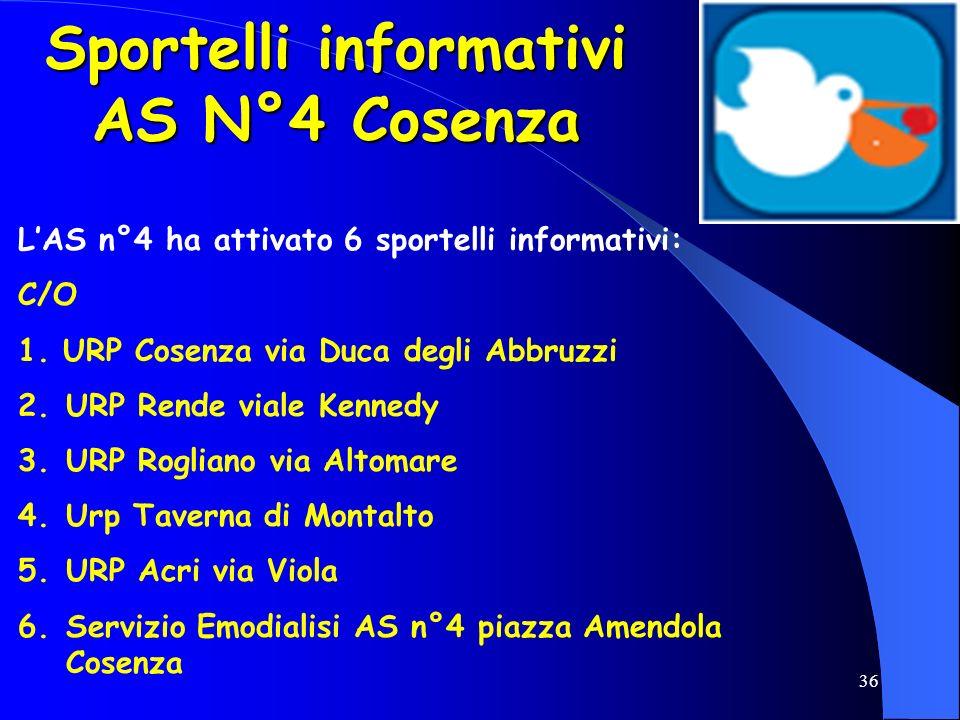 Sportelli informativi AS N°4 Cosenza