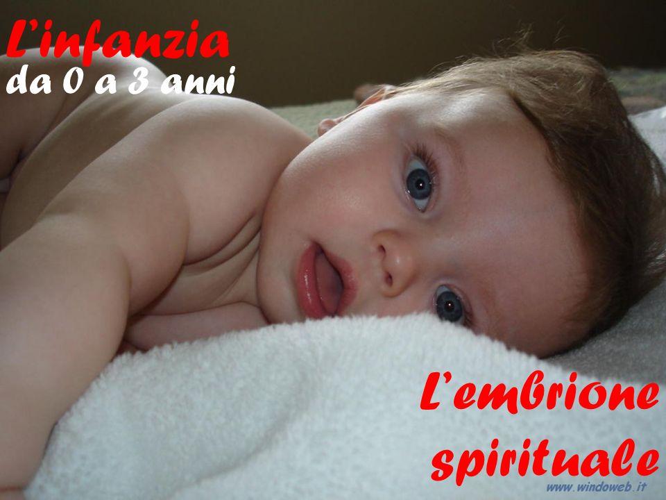 L'infanzia da 0 a 3 anni L'embrione spirituale