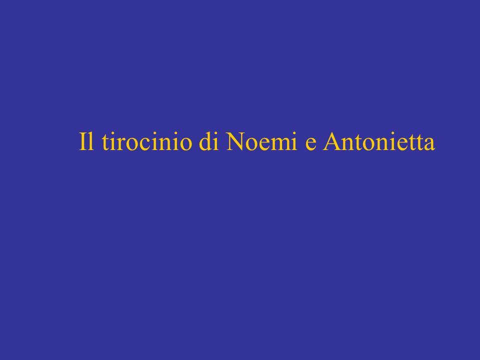 Il tirocinio di Noemi e Antonietta