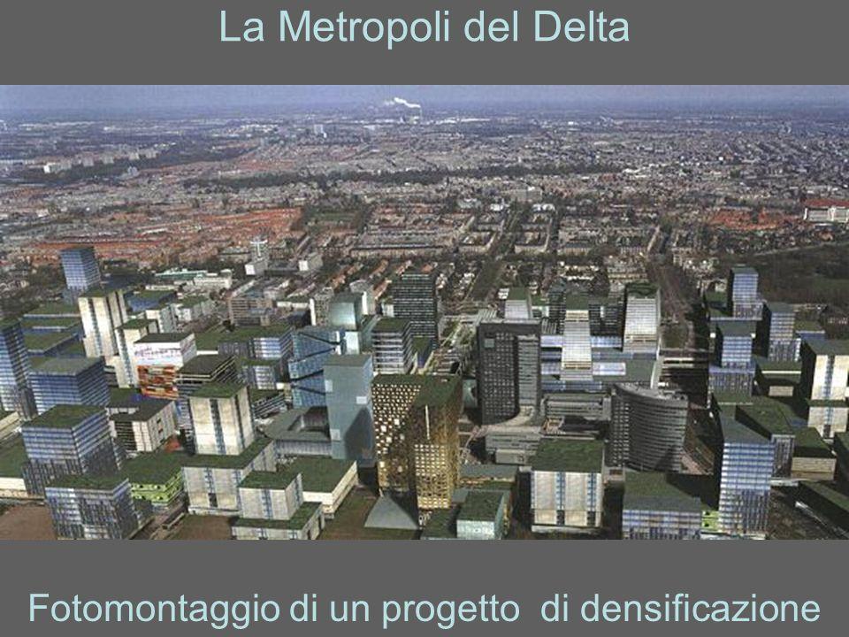Fotomontaggio di un progetto di densificazione