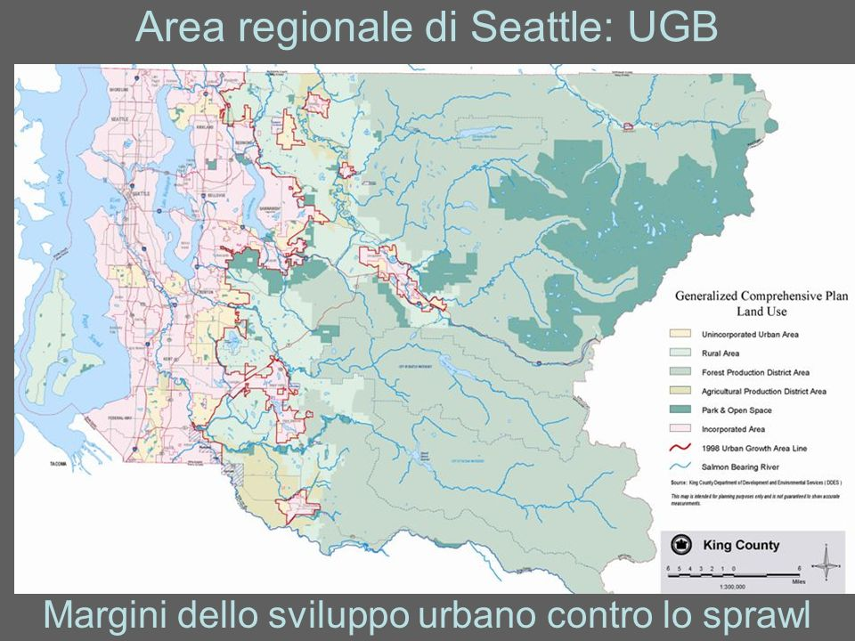 Area regionale di Seattle: UGB