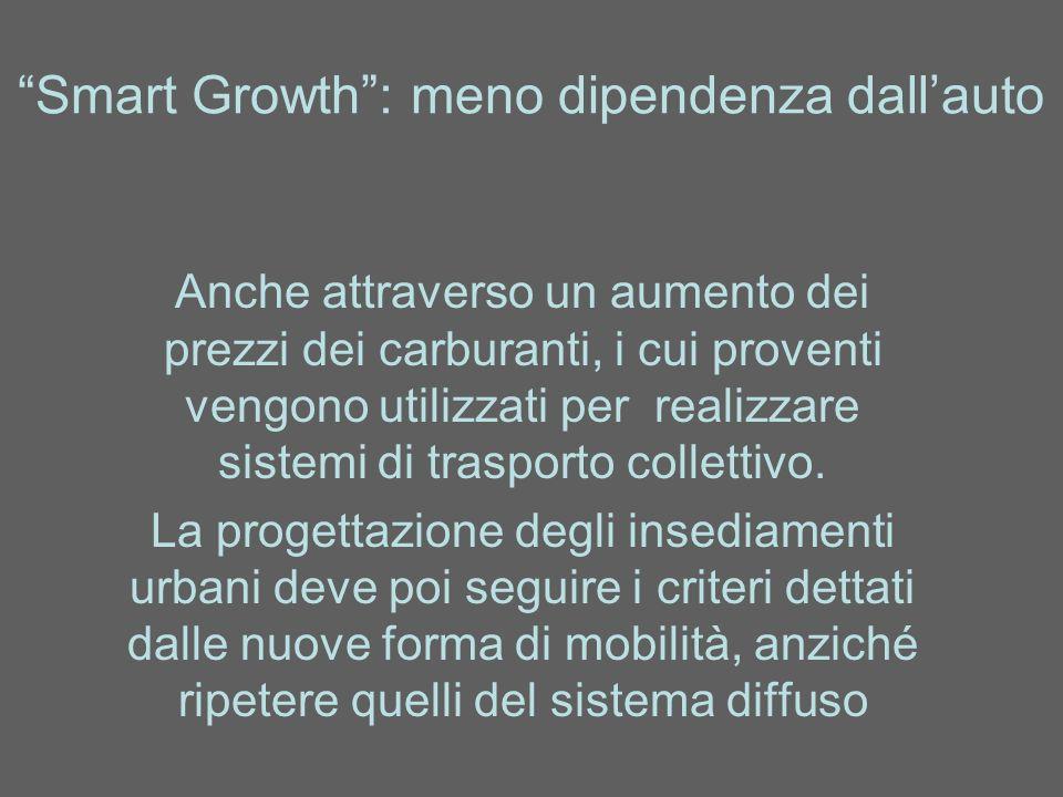 Smart Growth : meno dipendenza dall'auto
