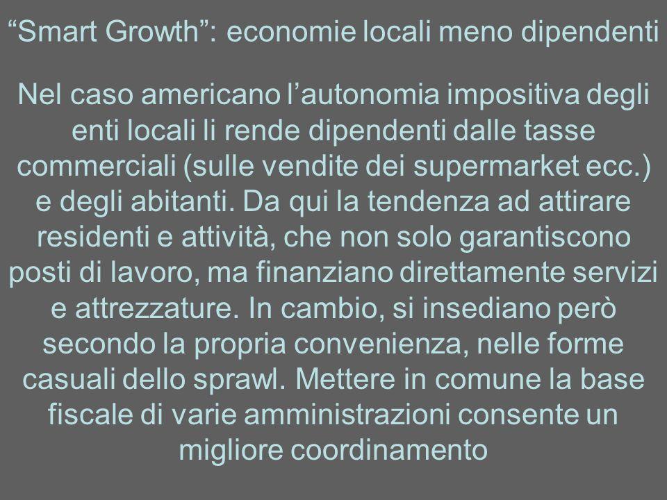 Smart Growth : economie locali meno dipendenti