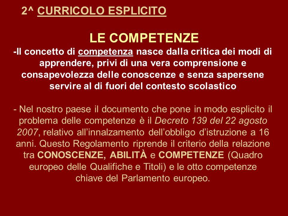 2^ CURRICOLO ESPLICITO