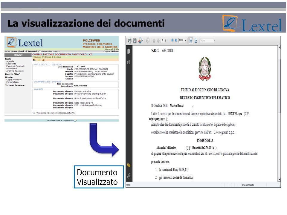 La visualizzazione dei documenti