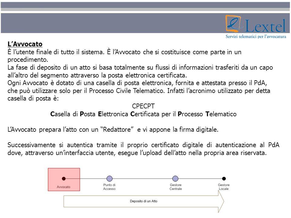 Casella di Posta Elettronica Certificata per il Processo Telematico