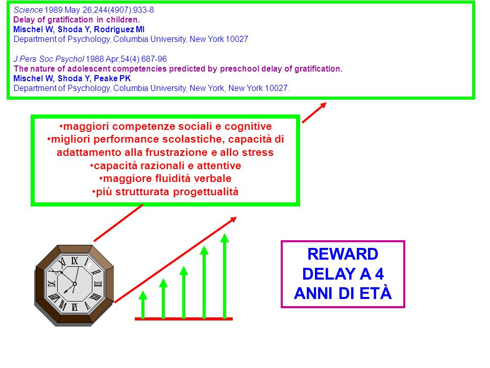 REWARD DELAY A 4 ANNI DI ETÀ