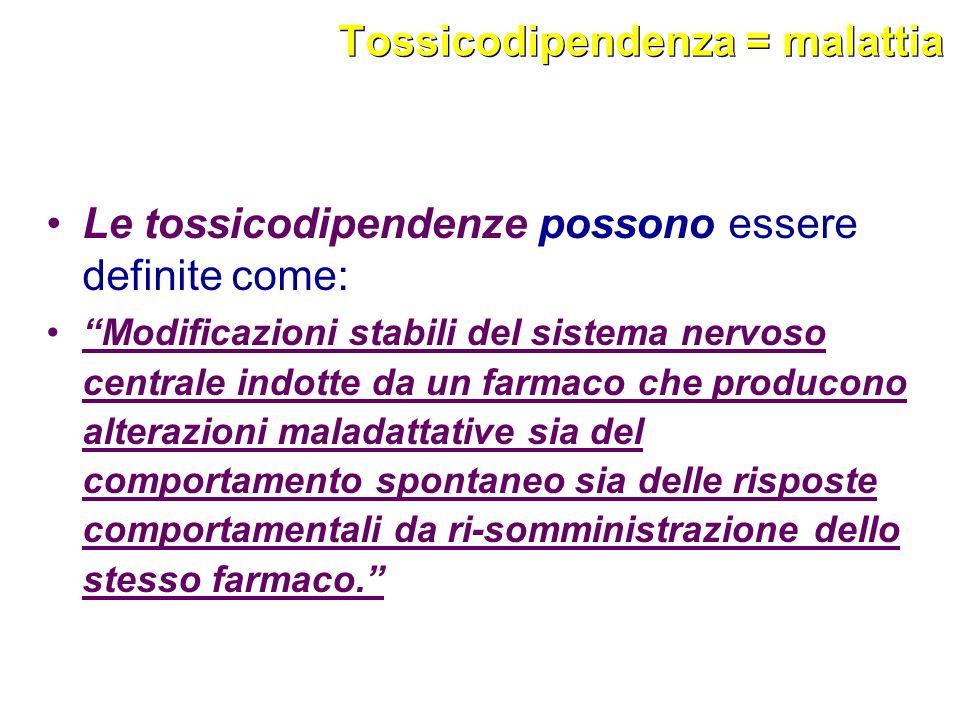 Tossicodipendenza = malattia