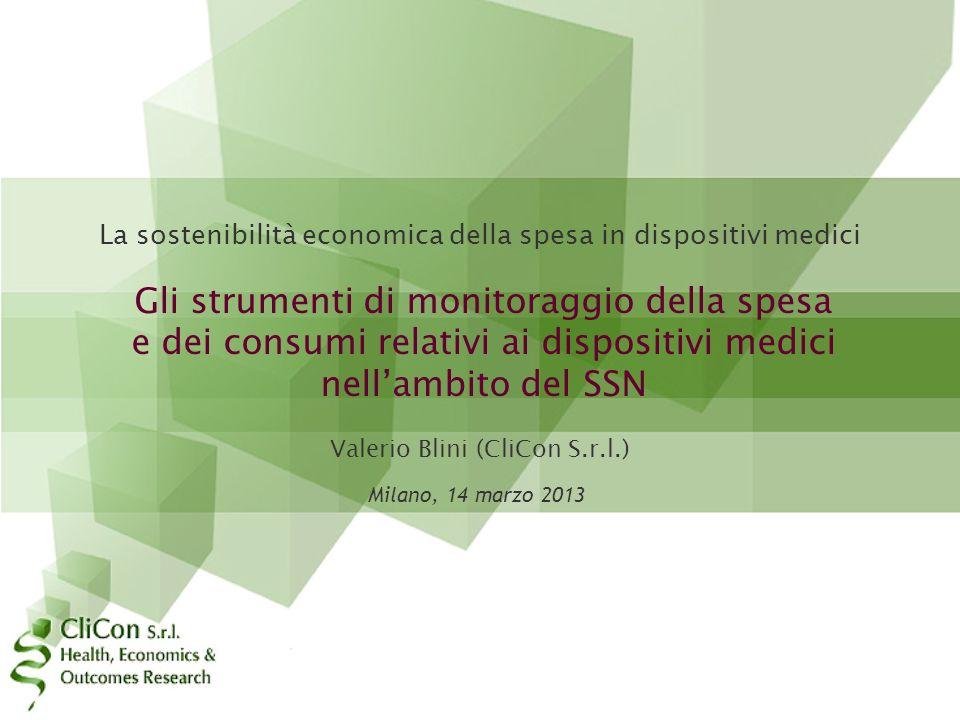 La sostenibilità economica della spesa in dispositivi medici