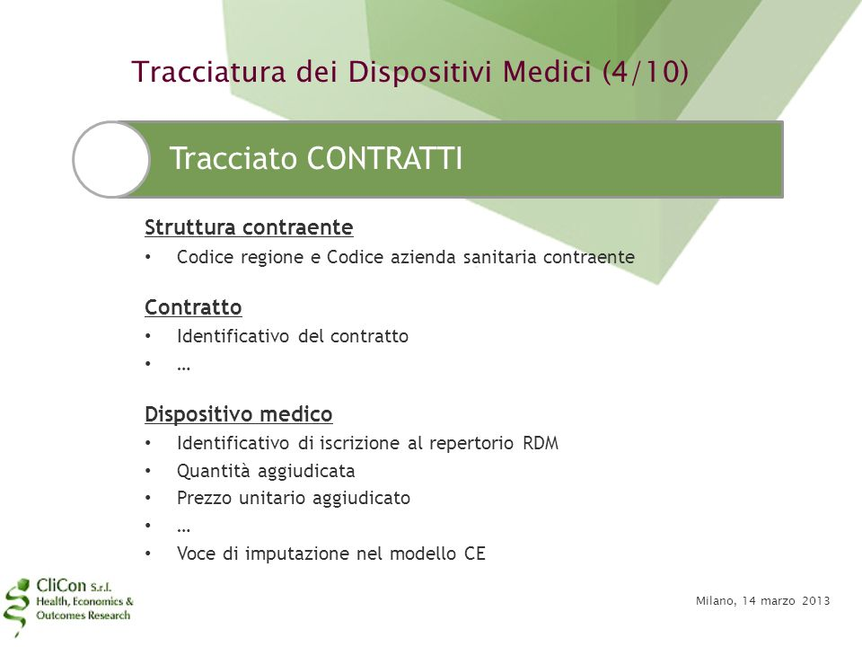 Tracciatura dei Dispositivi Medici (4/10)