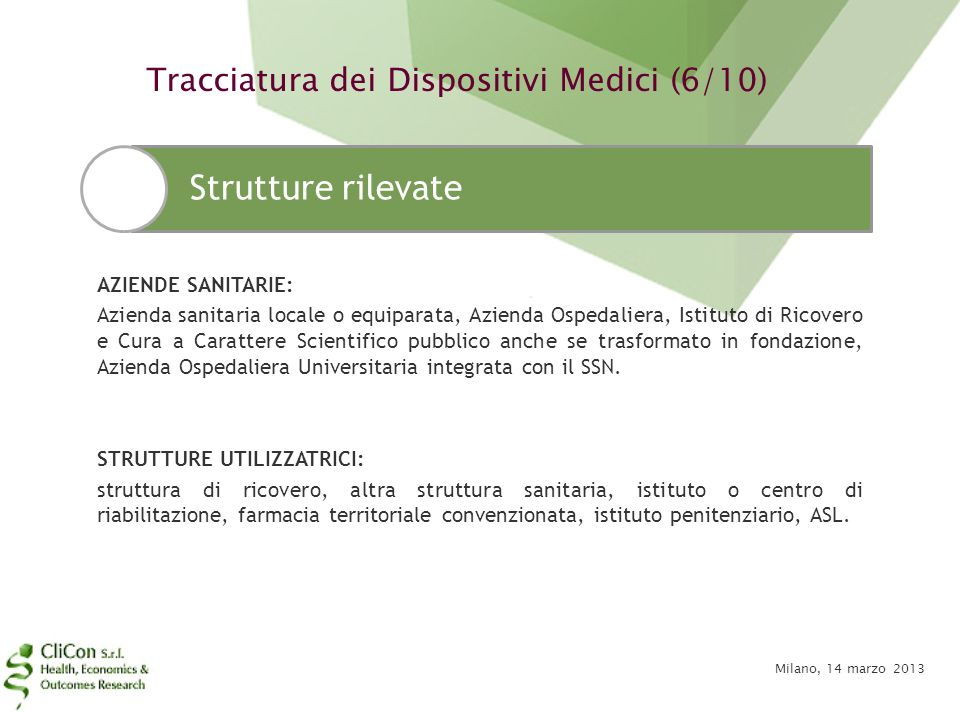 Tracciatura dei Dispositivi Medici (6/10)