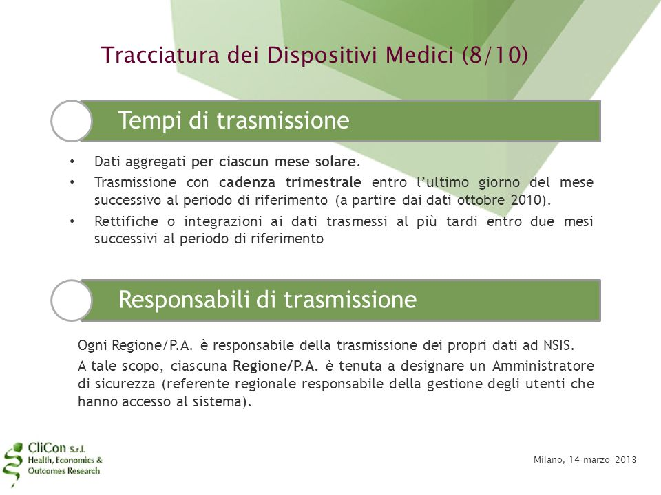 Tracciatura dei Dispositivi Medici (8/10)