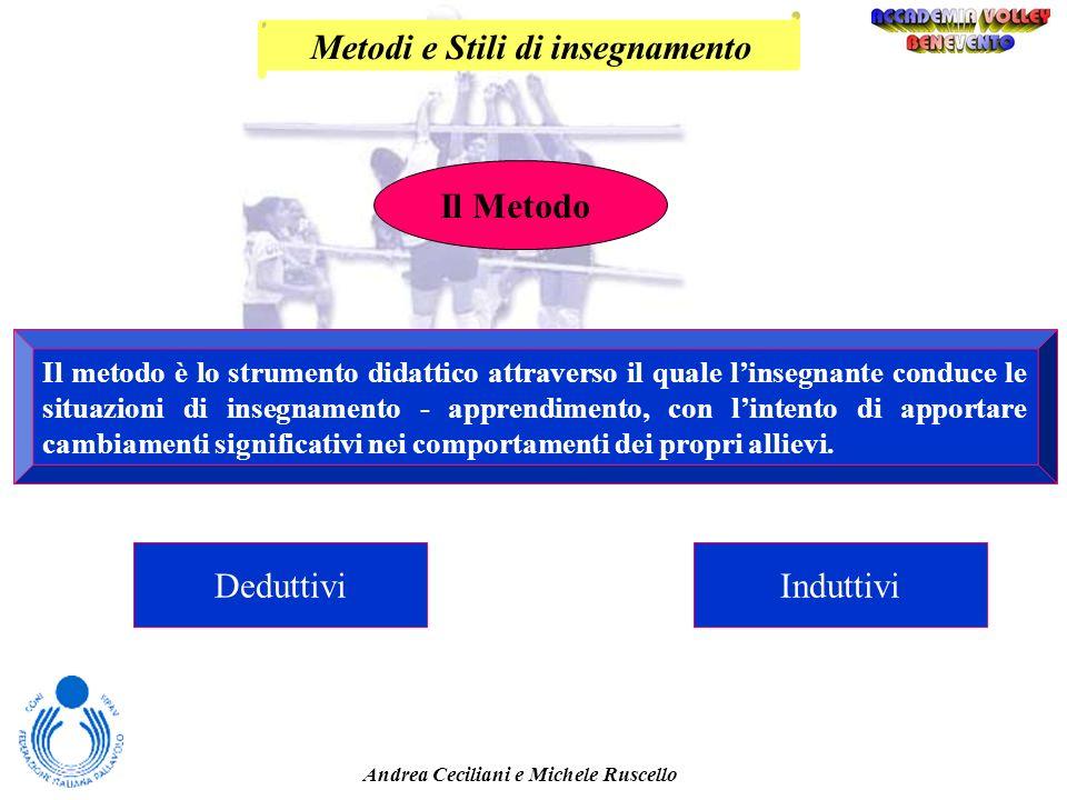 Metodi e Stili di insegnamento Andrea Ceciliani e Michele Ruscello