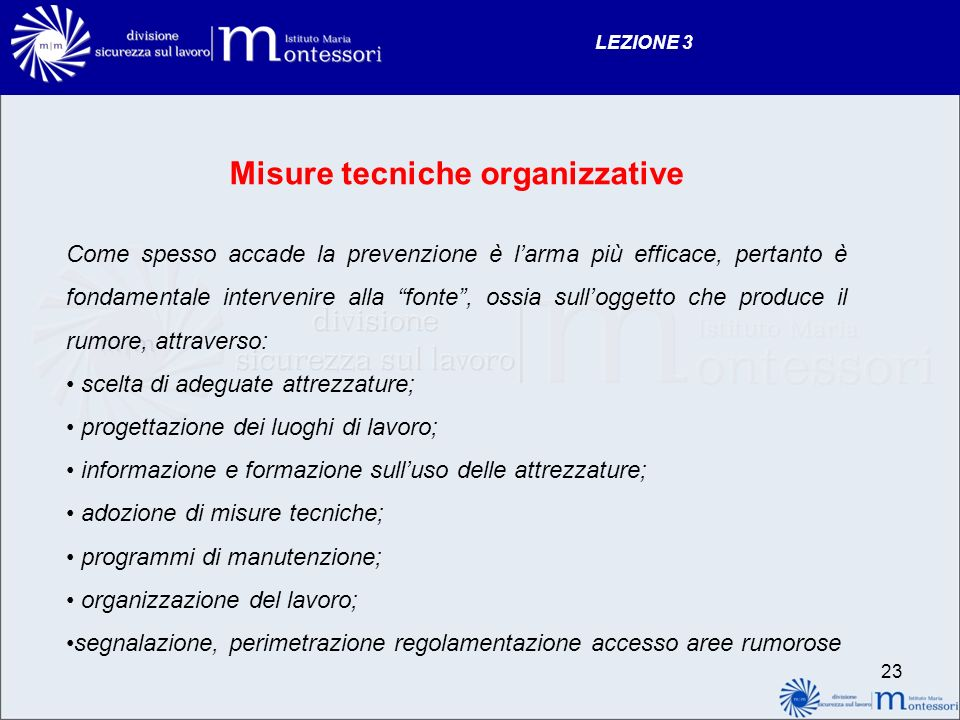 Misure tecniche organizzative