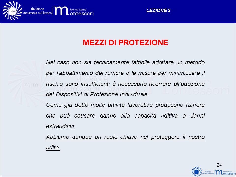LEZIONE 3 MEZZI DI PROTEZIONE.