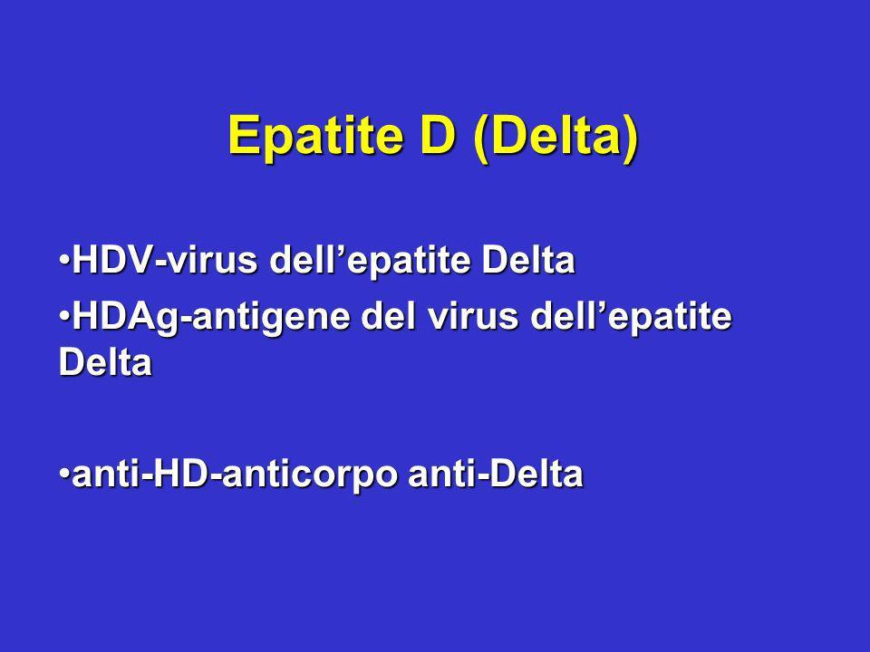 Epatite D (Delta) HDV-virus dell'epatite Delta