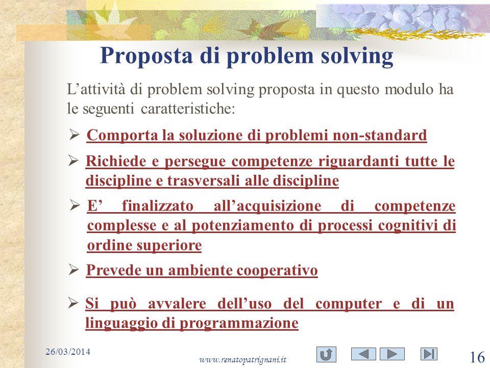 Proposta di problem solving