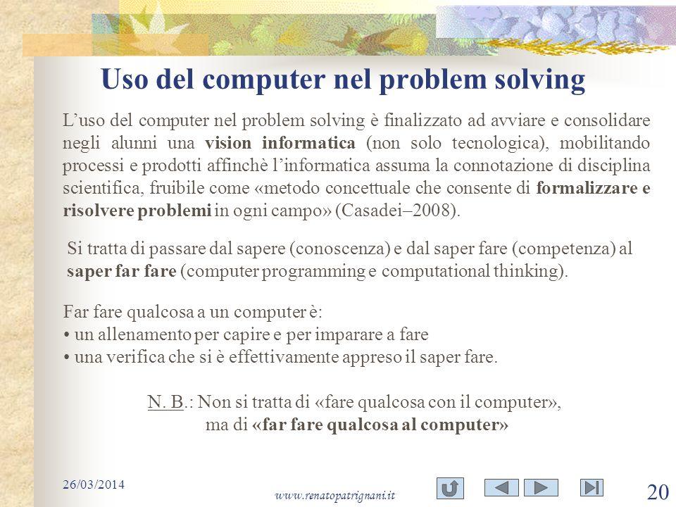 Uso del computer nel problem solving