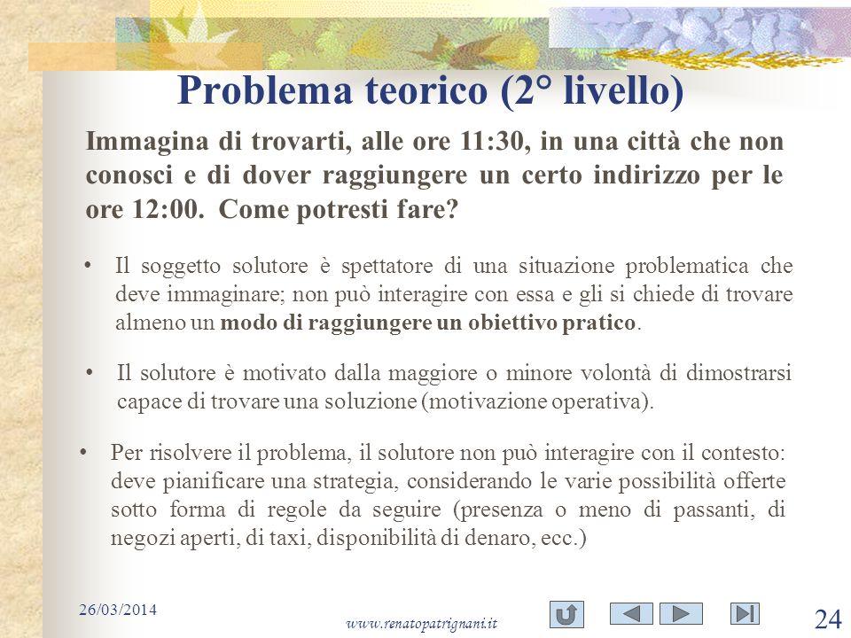 Problema teorico (2° livello)