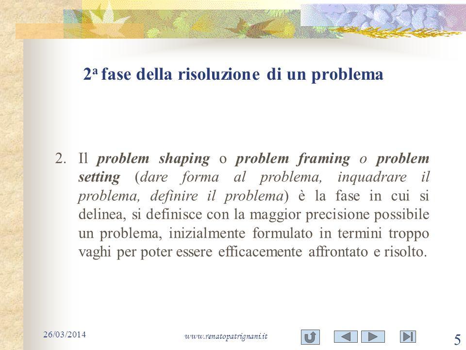 2a fase della risoluzione di un problema