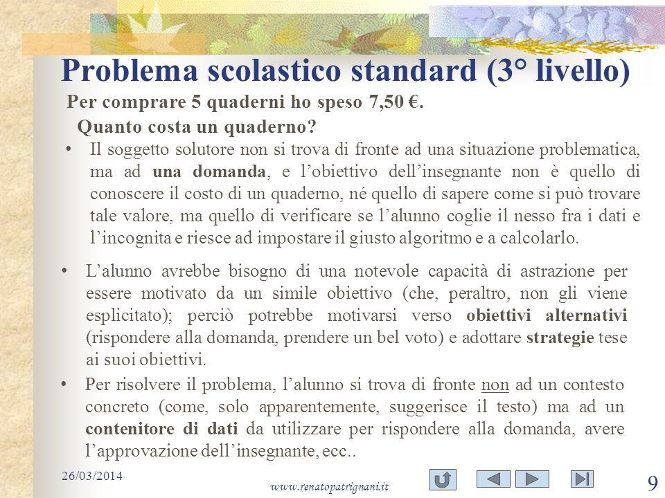 Problema scolastico standard (3° livello)