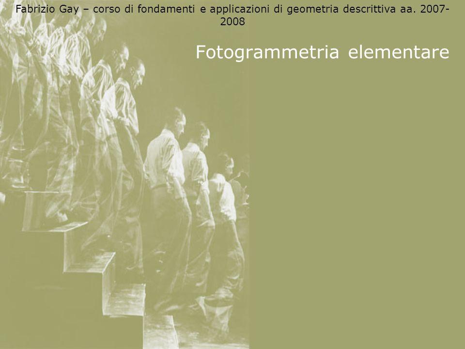 Fotogrammetria elementare