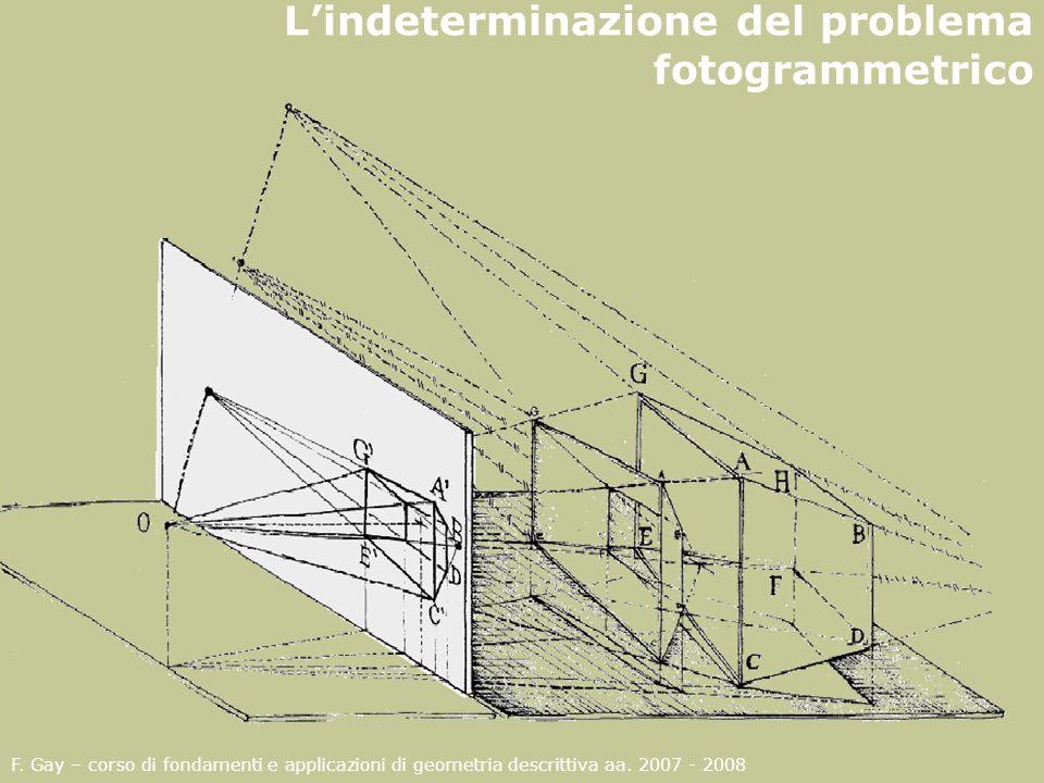 L'indeterminazione del problema fotogrammetrico