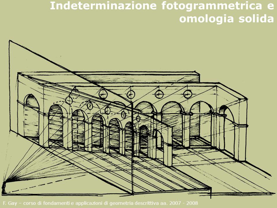 Indeterminazione fotogrammetrica e omologia solida