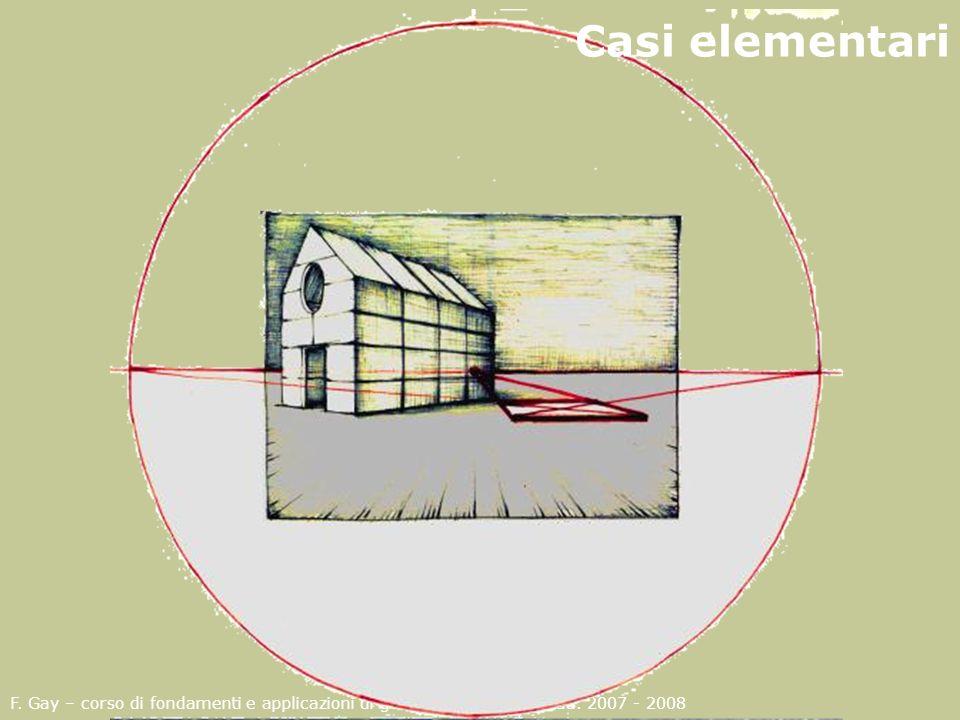 Casi elementari F. Gay – corso di fondamenti e applicazioni di geometria descrittiva aa.