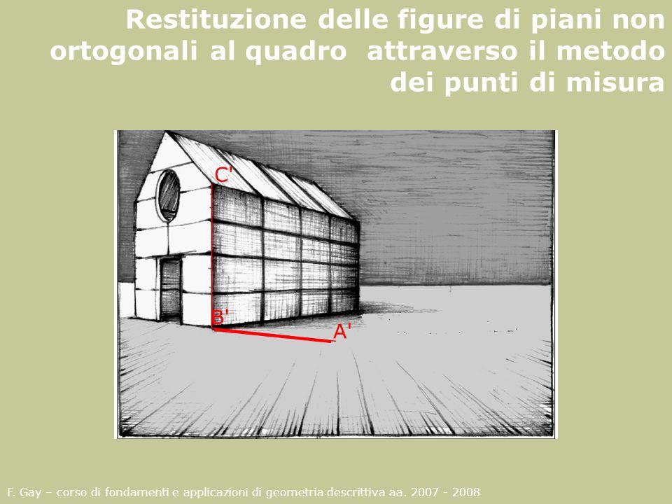 Restituzione delle figure di piani non ortogonali al quadro attraverso il metodo dei punti di misura