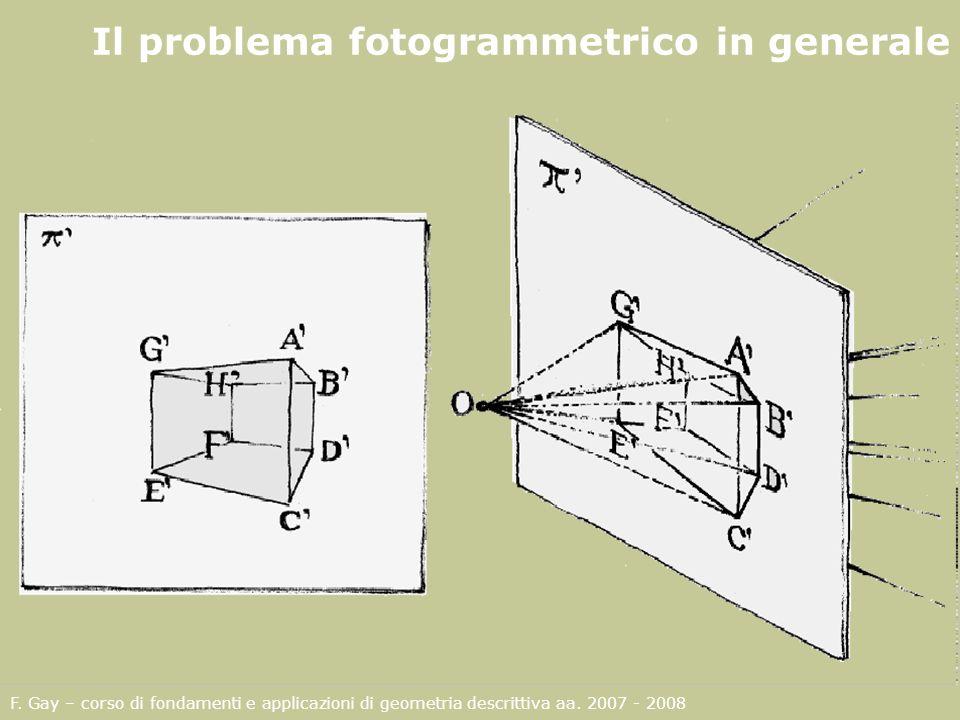 Il problema fotogrammetrico in generale