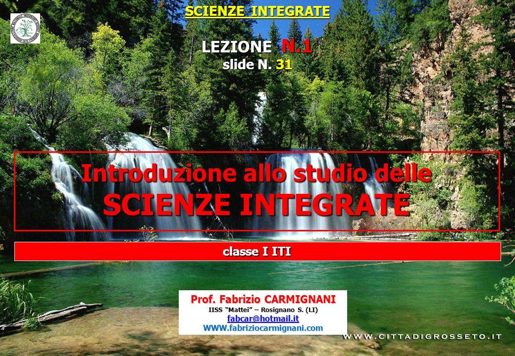 LEZIONE N.1 SCIENZE INTEGRATE slide N. 31 classe I ITI
