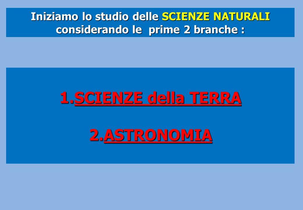 SCIENZE della TERRA ASTRONOMIA